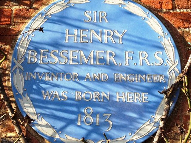 Henry Bessemer plaque